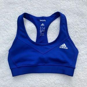 Adidas Royal Blue Climalite TechFit Sports Bra
